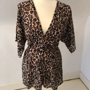 Cheetah print romper